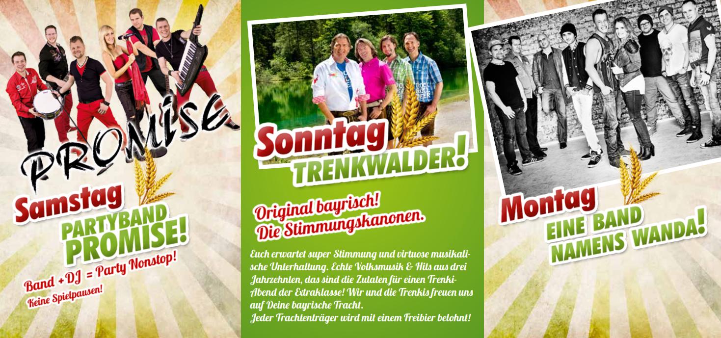 Kirmes Breuna Bands 2015
